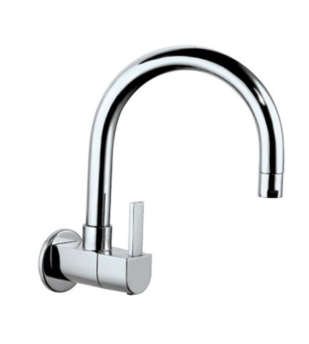 Sink Cock | DRC-CHR-37347S | with Regular Swinging Spout (Wall Mounted Model) With Wall Flange|