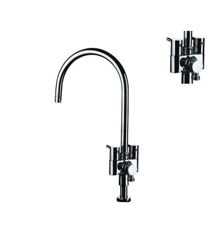 Sink Cock FLR-5355N  with Provision for Connection to RO from rear side & Swinging Spout