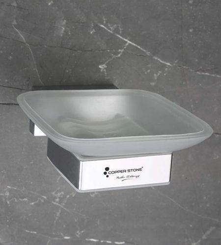 GLASS SOAP DISH | FB012|PVD BLACK
