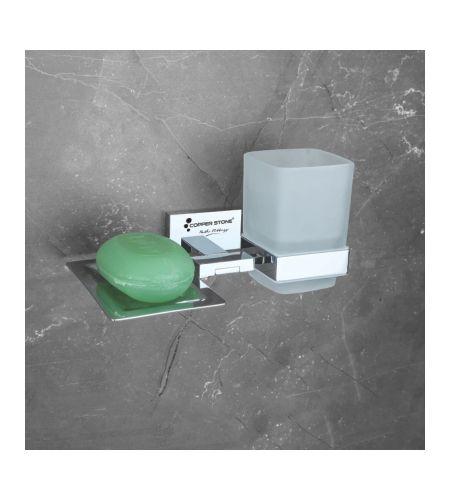 SOAP DISH WITH TUMBLER  | FB011 | PVD BLACK|
