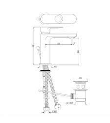 Basin Mixer | ORP-10051BPM|Single Lever Basin Mixer with Popup Waste with 450mm