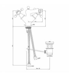 Basin Mixer  QQT-CHR-7613B   with Popup Waste System faucets 