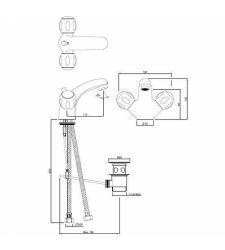 Central Hole Basin Mixer | CQT-23169B |