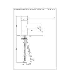 Florentine Single Lever |FLR-5033B |Basin Mixer |
