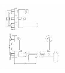 Single Lever Wall Mixer - Chrome|OPP-15117PM|