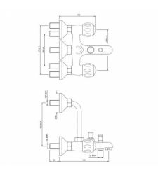Wall Mixer 3-in-1 System | CQT-23281UPR |