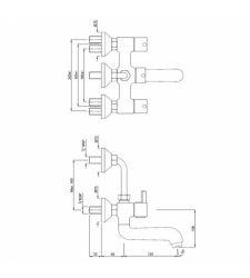 Wall Mixer FLR-5273UPR